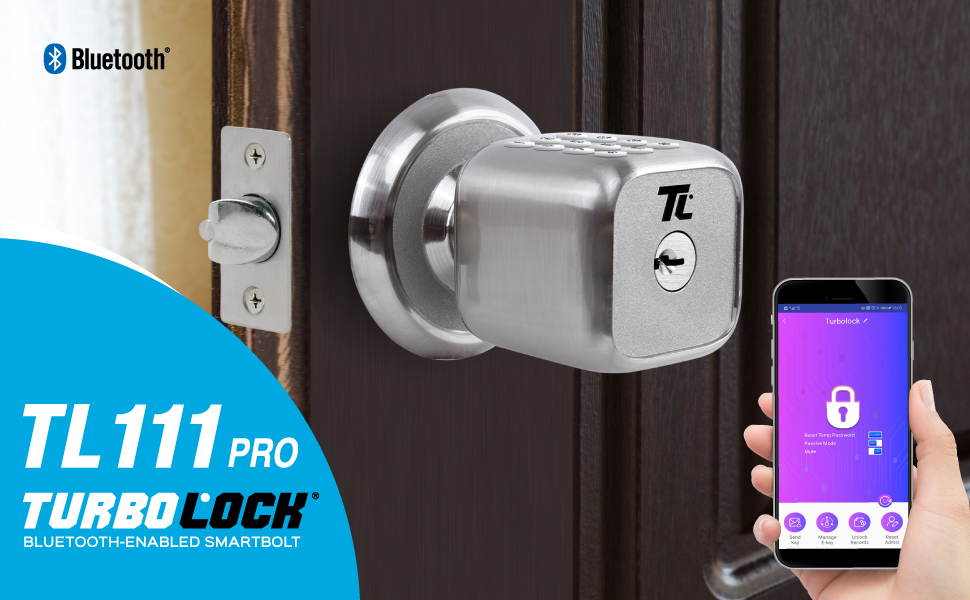 Turbolock Tl 111 Pro Smart Door Lock Send Ekeys W App