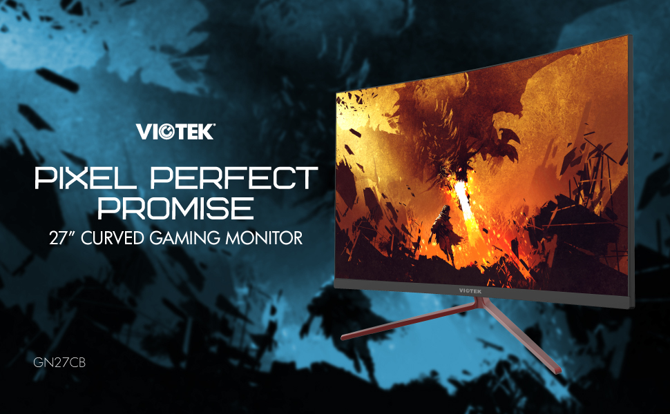 VIOTEK GN27CB 27-inch 144Hz Curved Gaming Monitor - 1920x1080p GamePlus FreeSync FPS/RTS-Optimized