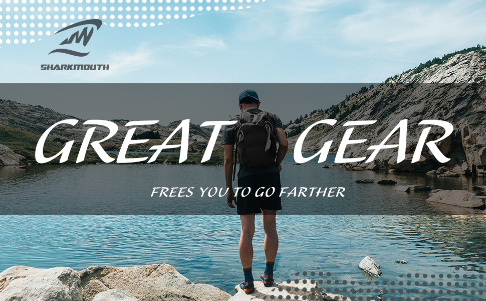 SHARKMOUTH Hiking Hydration Backpack is designed for long day hikers to enjoy the wonders of nature more comfortably and methodically in Day Hikes.