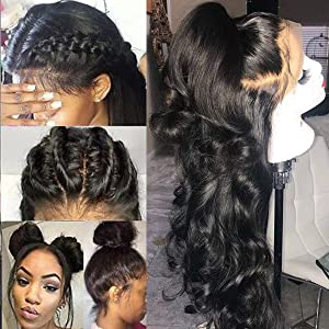 lace front wigs human hair Body wave wigs Brazilian Virgin Human hair