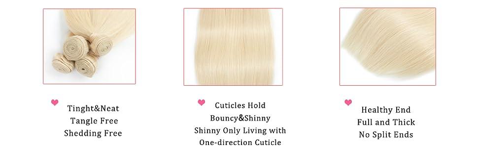 613 Bundles With Frontal Brazilian Virgin Human Hair