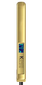 KIPOZI Pro 1 Inch Titanium Flat Iron, Gold