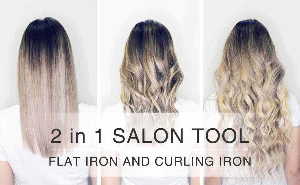 flat iron curling iron