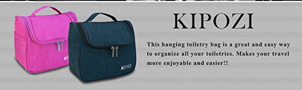 efd3981a312 KIPOZI toiletry bag is incredibly lightweight and compact ,but it provides  amply room. Wherever you going at your vacation or weekend ,it