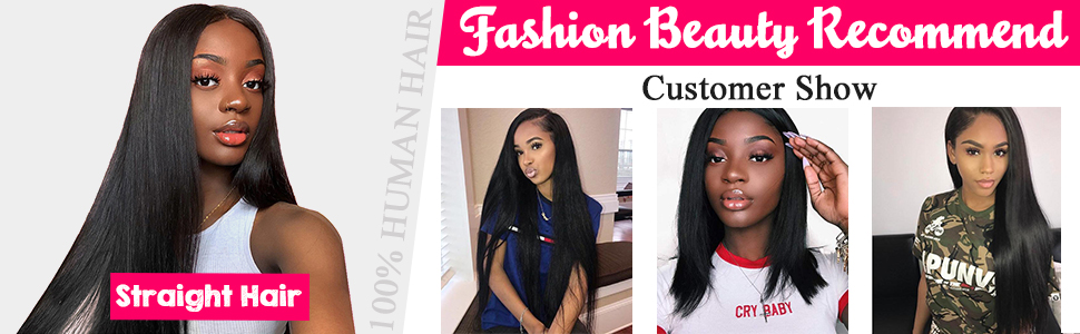 Brazilian straight human hair 3 bundles with closure unprocessed virgin straight bundles closure