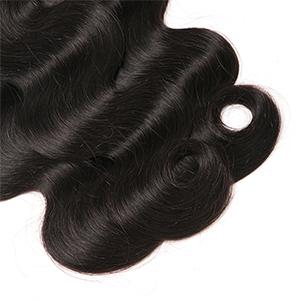 Mureen Brazilian Hair 3 Bundles with Closure Body Wave Virgin Hair Lace Closure with Bundles