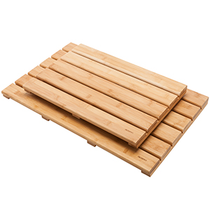 The Bamboo Floor Mat Is Built With A Slatted Design To Enhance Air  Circulation Which Allows It To Dry Faster. The The Width Of The Each Bamboo  Is 2.36inches ...