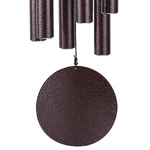 Canghai Campanas de viento para exteriores rojo el mejor regalo para terrazas de jard/ín al aire libre con 6 tubos de aluminio de madera campanillas de viento conmemorativas