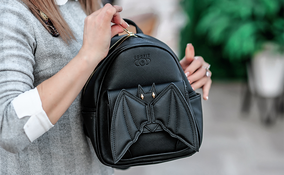 COOFIT Mini Backpack Bat Purse Gothic Backpack Purse Gothic Bags Mini  Backpack for Women 7c8cbccc5dfea