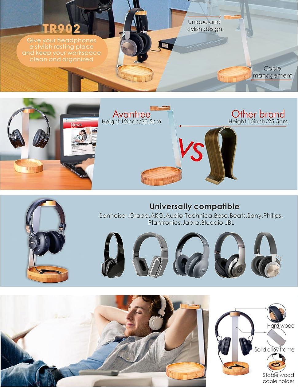 Amazon.com: Avantree Universal Wooden & Aluminum Headphone