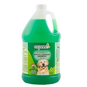 hypo-allergenic shampoo for dogs in a gallon jug