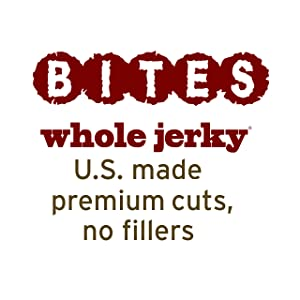 bites whole jerky, us made, premium cuts, no fillers