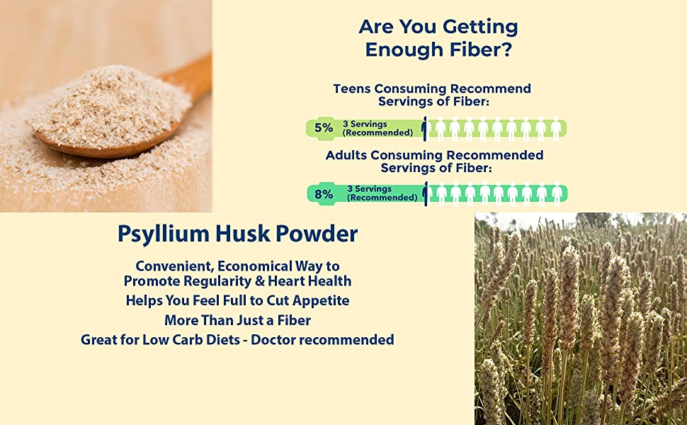 Husk Powder psyllium fiber diet old young heart healthy colon regularity wright low carb