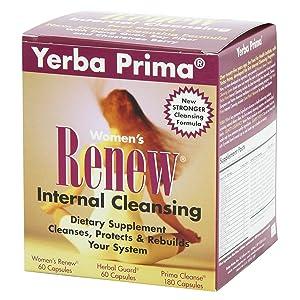 Yerba Prima Women's Renew Internal Cleansing, 60 capsules each of Renew,  herbal Guard and 180