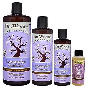 Amazon.com: Dr. Woods Pure Castilla Jabón orgánico con ...