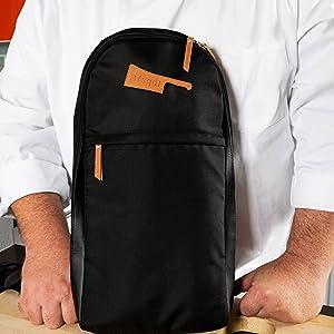 Amazon.com: M(sqd) Roundsman - Funda para cuchillos de chef ...