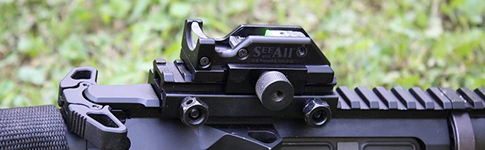 See All Open Sight Rail Mounted on Rifle