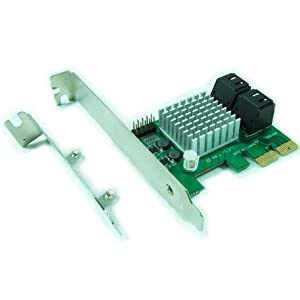 Ableconn PEX-SAT4R 4-Port SATA 6G PCI Express 2.0 Host Adapter - PCIe AHCI SATA III 6Gbps RAID Controller Card Support HyperDuo SSD Tiering (Marvell ...