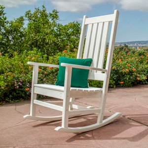 Admirable Polywood Vineyard Porch Rocking Chair Black Caraccident5 Cool Chair Designs And Ideas Caraccident5Info