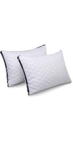 HOMEIDEAS Down Alternative Pillows Soft Comfort Levels D01V159A Hypoallergenic /& Dust Mite Resistant Luxury Gel Fiber Bed Pillows for Sleeping Standard,Set of 2
