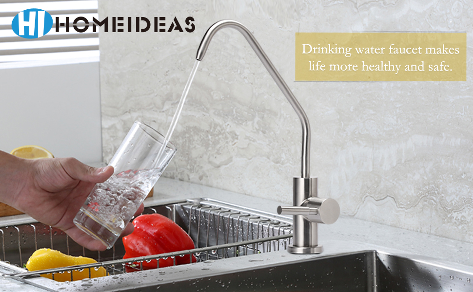 HOMEIDEAS Single Handle Drinking Water Faucet, Filtered Water Faucet ...