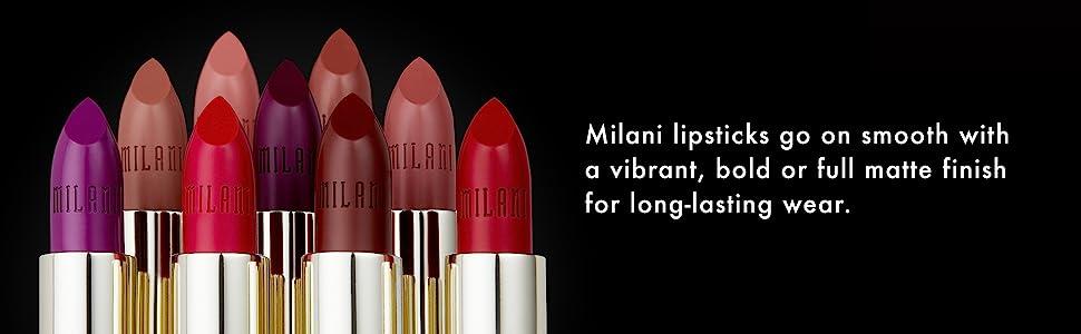Milani lipsticks