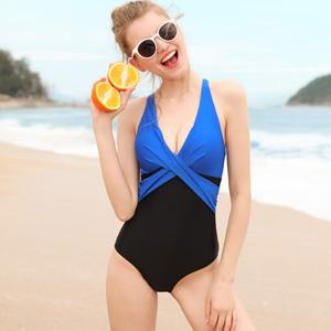 Vegatos Women Tummy Control 1 Piece Swimsuit Front Twist Colorblock Bathing Suit at Amazon Women's Clothing store: