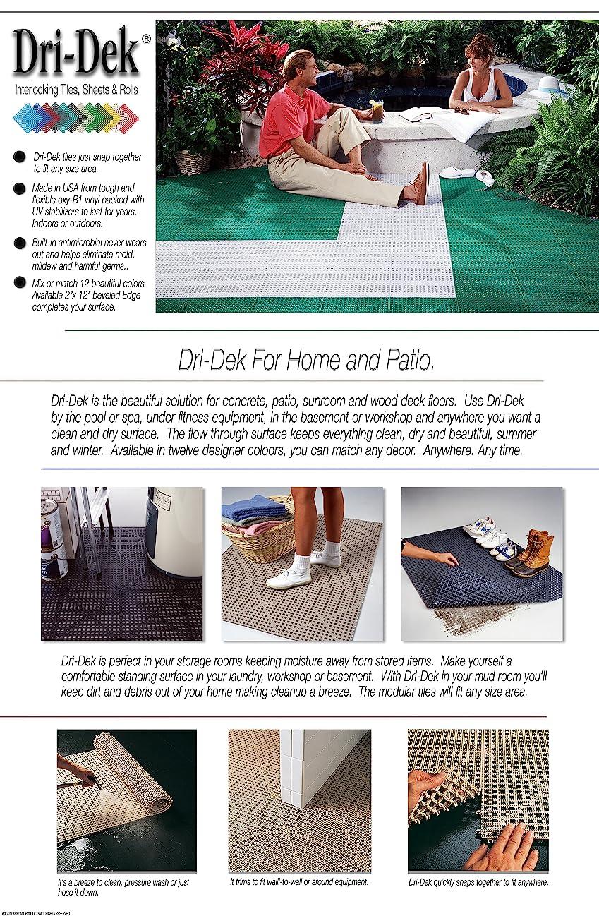 Amazon.com : Dri-Dek 1\u0027x1\u0027 Interlocking Tiles - Flexible Patio ...