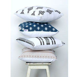 Geometric Pillow Case for Home Farmhouse Decor, 100% Cotton, Horizon Blue exclusive pillow coverS