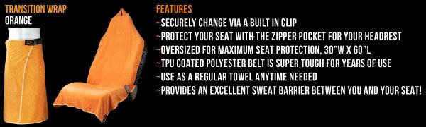 Black Orange Mud Transition /& Seat Wrap