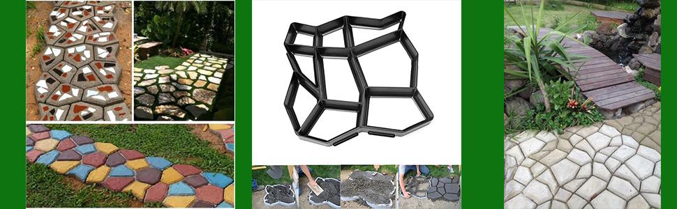 G CORE Plastics DIY Path Maker Brick Mold Concrete Pattern Mold