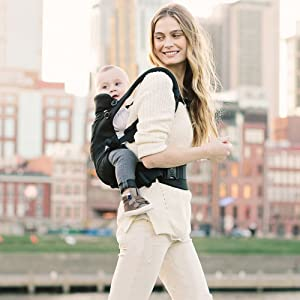 Ergobaby Adapt Baby Carrier, Infant to Toddler Carrier, Multi-Position, Premium Cotton, Sage