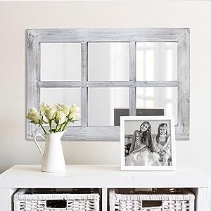 window pane mirror farmhouse