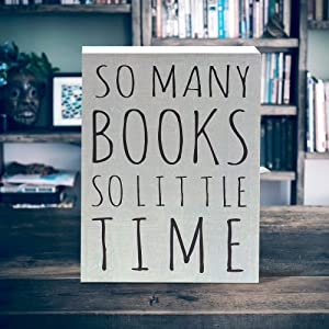 Lifestyle photo for So Many Book So Little Time Box Sign