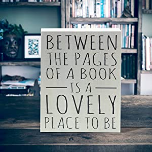 Lifestyle photo for Between The Pages of a Book Box Sign