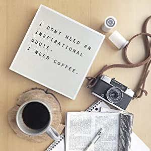 Lifestyle photo for I Don't Need an Inspirational Quote I Need Coffee Box Sign