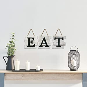 Life style pic of EAT sign wall decor