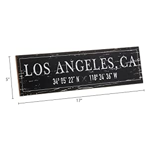 Dimension photo for Los Angeles, CA City Sign
