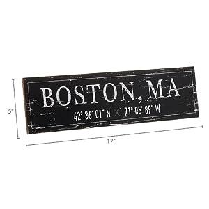 Dimension photo for Boston, MA City Sign
