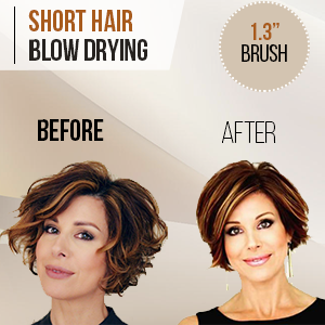 Amazon Com Blow Dry Round Brush 1 3 Small Barrel With Natural Boar Bristles For Salon Like Blowouts Styling Curling Short Hair With Volume Or Bouncy Curls Beauty