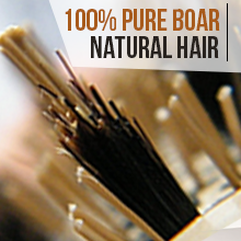 100% pure boar natural bristles round brush for blow-drying salon-like volume blowouts frizz-free