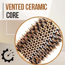 vented ceramic round barrel roller hair brush for blow-drying straightening curling short long hair