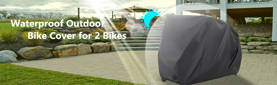 waterproof outdoor bike cover for 2 bikes