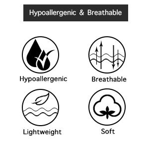 Hypoallergenic comfortable breathable lightweight high density yarn microfiber fabric