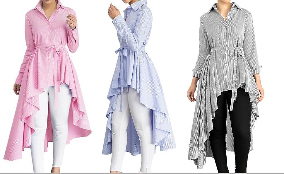 iDWZA Ladies Women Fashion Solid Long Sleeve Bow Collar Sweatshirt Top T-Shirt