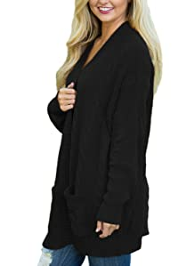 Dokotoo Womens Fashion Open Front Long Sleeve Cardigans Sweater ...