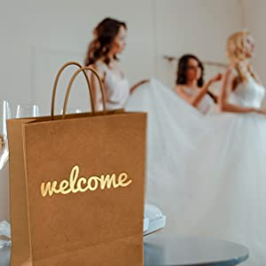 gold wedding welcome bags