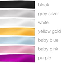 Multiple ribbon colors including gold