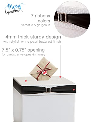 White Gift Card Box for Weddings and Parties