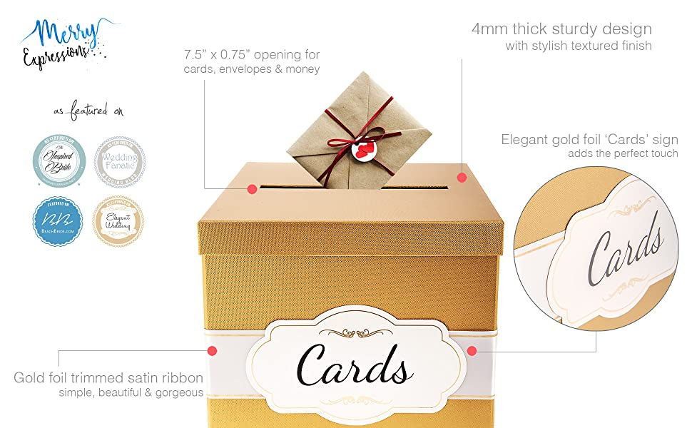 High quality golden gift card box